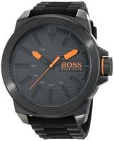 Hugo Boss Orange New York Herren-Armbanduhr Quartz mit schwarzem Silikon Armband 1513004 - 1