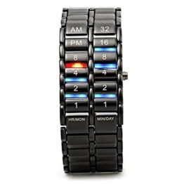HWCOO LED-Uhren, Lava-Tisch der zweiten Generation binäre Lavatabelle binäre Lava LED-Uhr (Color : 1) - 1