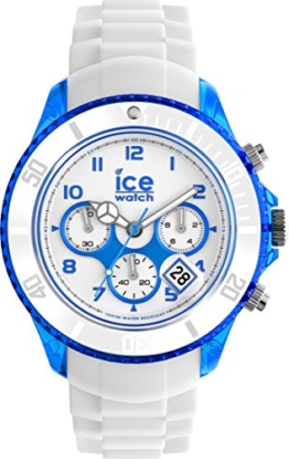 Ice-Watch - Ice Chrono Party Curaçao - Weiße Herrenuhr mit Silikonarmband - 013717 (Extra large) - 1