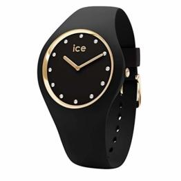 Ice-Watch - Ice Cosmos Black Gold - Schwarze Damenuhr mit Silikonarmband - 016295 (Medium) - 1