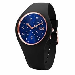 Ice-Watch - Ice Cosmos Star Deep blue - Schwarze Damenuhr mit Silikonarmband - 016294 (Medium) - 1
