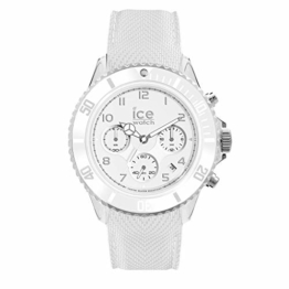 Ice-Watch - Ice Dune White - Weiße Herrenuhr mit Silikonarmband - Chrono - 014217 (Large) - 1