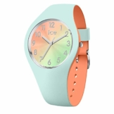 Ice-Watch - ICE duo chic Aqua coral - Grüne Damenuhr mit Silikonarmband - 016981 (Small) - 1