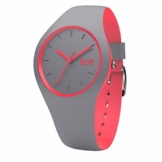 Ice-Watch - Ice Duo Dusty coral - Graue Damenuhr mit Silikonarmband - 001488 (Small) - 1