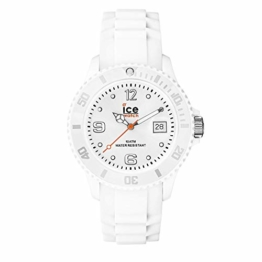 Ice-Watch - Ice Forever White - Weiße Herrenuhr mit Silikonarmband - 000134 (Medium) - 1