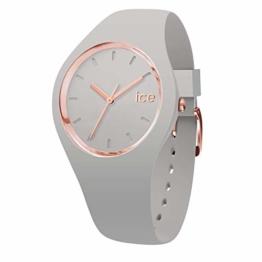 Ice-Watch - Ice Glam Pastel Wind - Graue Damenuhr mit Silikonarmband - 001070 (Medium) - 1