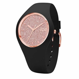 Ice-Watch - Ice Glitter Black Rose-Gold - Schwarze Damenuhr mit Silikonarmband - 001353 (Medium) - 1