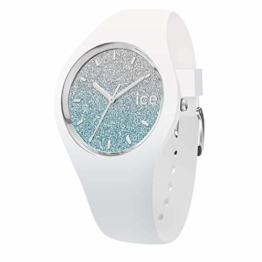 Ice-Watch - Ice lo White Blue - Weiße Damenuhr mit Silikonarmband - 013425 (Small) - 1