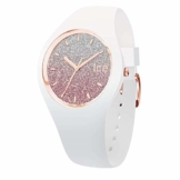 Ice-Watch - Ice lo White Pink - Weiße Damenuhr mit Silikonarmband - 013431 (Medium) - 1