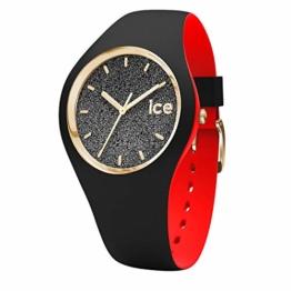 Ice-Watch - Ice Loulou Black Glitter - Schwarze Damenuhr mit Silikonarmband - 007227 (Small) - 1