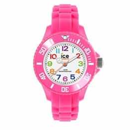 Ice-Watch - Ice Mini Pink - Rosa Mädchenuhr mit Silikonarmband - 000747 (Extra small) - 1