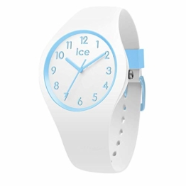 Ice-Watch - Ice Ola kids Cotton white - Weiße Jungenuhr mit Silikonarmband - 014425 (Small) - 1