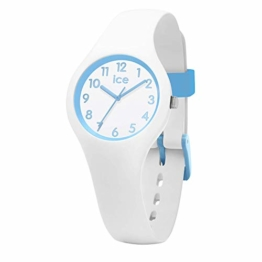 Ice-Watch - Ice Ola kids Cotton white - Weiße Jungenuhr mit Silikonarmband - 015348 (Extra small) - 1