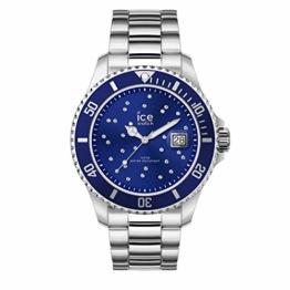 Ice-Watch - Ice Steel Black Cosmos silver - Silbergraue Damenuhr mit Metallarmband - 016773 (Medium) - 1