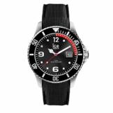 Ice-Watch - Ice Steel Black - Schwarze Herrenuhr mit Silikonarmband - 016030 (Medium) - 1
