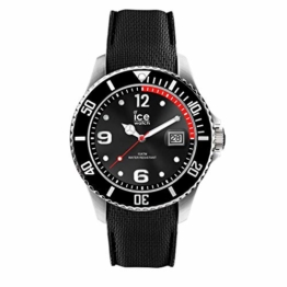 Ice-Watch - Ice Steel Black - Schwarze Herrenuhr mit Silikonarmband - 016030 (Medium) - 1