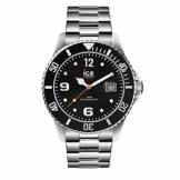 Ice-Watch - Ice Steel Black silver - Schwarze Herrenuhr mit Metallarmband - 016031 (Medium) - 1