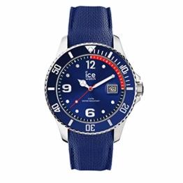 Ice-Watch - Ice Steel Blue - Blaue Herrenuhr mit Silikonarmband - 015770 (Medium) - 1