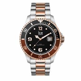 Ice-Watch - Ice Steel Chic silver rose-gold - Silbergraue Herrenuhr mit Metallarmband - 016546 (Medium) - 1