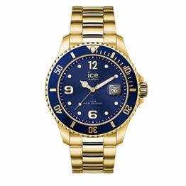 Ice-Watch - Ice Steel Gold blue - Gold Herrenuhr mit Metallarmband - 016761 (Medium) - 1