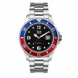 Ice-Watch - Ice Steel United silver - Silbergraue Herrenuhr mit Metallarmband - 016547 (Large) - 1