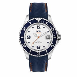 Ice-Watch - Ice Steel White blue - Blaue Herrenuhr mit Silikonarmband - 016772 (Large) - 1