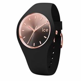 Ice-Watch - Ice Sunset Black - Schwarze Damenuhr mit Silikonarmband - 015748 (Medium) - 1