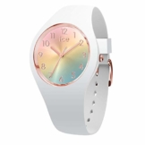 Ice-Watch - Ice Sunset Rainbow - Weiße Damenuhr mit Silikonarmband - 015743 (Small) - 1