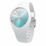 Ice-Watch - Ice Sunset Turquoise - Weiße Damenuhr mit Silikonarmband - 015745 (Small) - 1