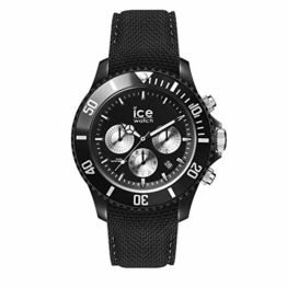 Ice-Watch - Ice Urban Black Silver - Schwarze Herrenuhr mit Silikonarmband - Chrono - 016304 (Large) - 1