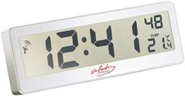 infactory Funkuhr großes Display: Kompakte Funkuhr mit riesigem XXL-LCD-Display und Temperatur-Anzeige (Funkuhr Digital großes Display) - 1
