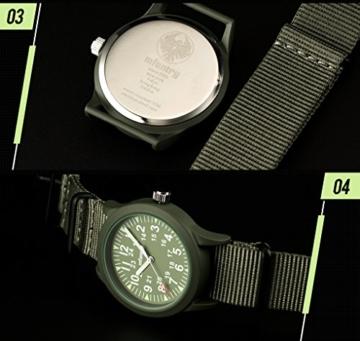 Infantry Herren Uhr Armbanduhr Männer Militär Uhren Herrenarmbanduhr Fliegeruhr Nylonband Grün Militäruhr Tactical Watch - 5