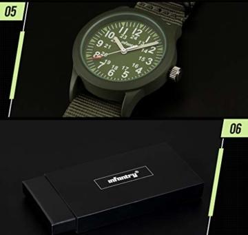 Infantry Herren Uhr Armbanduhr Männer Militär Uhren Herrenarmbanduhr Fliegeruhr Nylonband Grün Militäruhr Tactical Watch - 6
