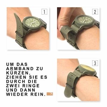 Infantry Herren Uhr Armbanduhr Männer Militär Uhren Herrenarmbanduhr Fliegeruhr Nylonband Grün Militäruhr Tactical Watch - 7