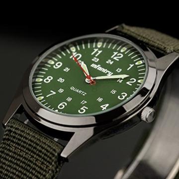 Infantry Herren Uhr Armbanduhr Männer Uhren Militäruhr Outdoor Herrenarmbanduhr Herrenuhren Militär Grün Nylonband - 2