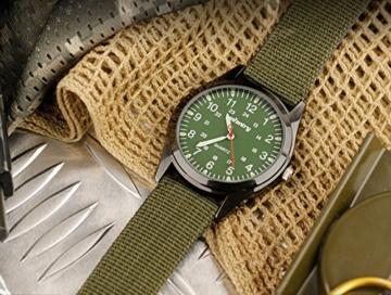 Infantry Herren Uhr Armbanduhr Männer Uhren Militäruhr Outdoor Herrenarmbanduhr Herrenuhren Militär Grün Nylonband - 5
