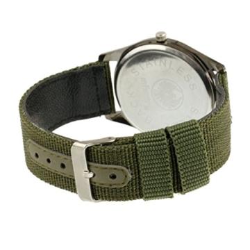 Infantry Herren Uhr Armbanduhr Männer Uhren Militäruhr Outdoor Herrenarmbanduhr Herrenuhren Militär Grün Nylonband - 7