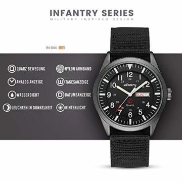 Infantry Herrenuhr Armbanduhr Männer Uhren Militär Uhr Armbanduhren Für Herren Schwarz Herrenarmbanduhr Outdoor Nylonband - 2