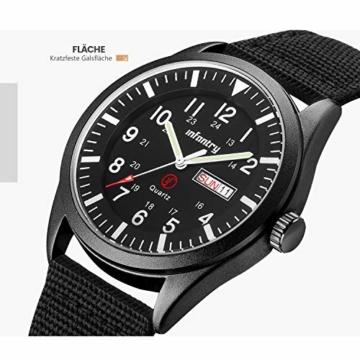 Infantry Herrenuhr Armbanduhr Männer Uhren Militär Uhr Armbanduhren Für Herren Schwarz Herrenarmbanduhr Outdoor Nylonband - 3