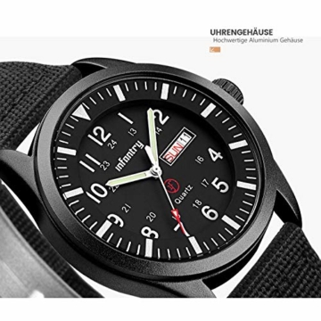 Infantry Herrenuhr Armbanduhr Männer Uhren Militär Uhr Armbanduhren Für Herren Schwarz Herrenarmbanduhr Outdoor Nylonband - 4