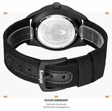 Infantry Herrenuhr Armbanduhr Männer Uhren Militär Uhr Armbanduhren Für Herren Schwarz Herrenarmbanduhr Outdoor Nylonband - 5