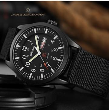 Infantry Herrenuhr Armbanduhr Männer Uhren Militär Uhr Armbanduhren Für Herren Schwarz Herrenarmbanduhr Outdoor Nylonband - 6
