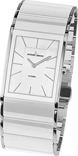 JACQUES LEMANS Damen Analog Quarz Uhr mit Edelstahl Armband 1-1940B - 1
