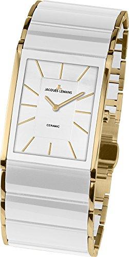 JACQUES LEMANS Damen Analog Quarz Uhr mit Edelstahl Armband 1-1940E - 1