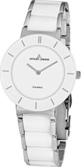 Jacques Lemans Damen Analog Quarz Uhr mit Keramik Armband 1-1866B - 1