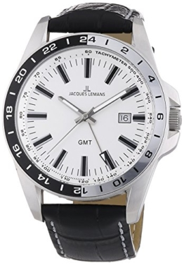 Jacques Lemans Herren-Armbanduhr XL Analog Quarz 1-1328B - 1