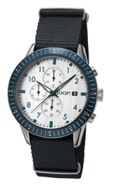 Joop! Herren Chronograph Quarz Uhr mit Textil Armband JP101881004 - 1