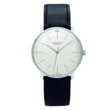 Junghans Herren-Armbanduhr XL Max Bill Automatic Analog Automatik Leder 027/3501.00 - 1