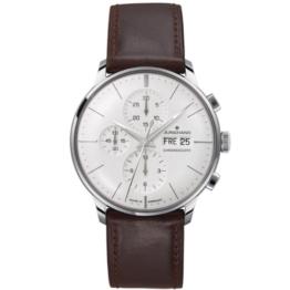 Junghans Herren-Armbanduhr XL Meister Chronoscope Chronograph Automatik Leder 027/4120.00 - 1