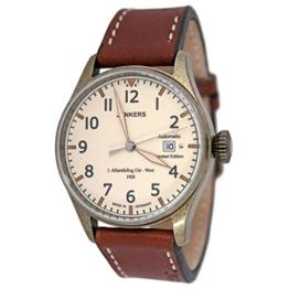 Junkers Automatik Herren Flieger Uhr Limited Edition 1. Atlantikflug Ost-West v. 1928 mit Leder Armband - 1